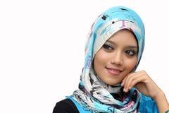 Retratos da mulher muçulmana nova Fotos de Stock Royalty Free