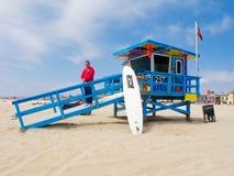 Retratos da torre do Lifeguard da esperança Fotos de Stock Royalty Free