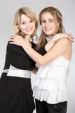 Retratos de duas meninas bonitas imagens de stock royalty free