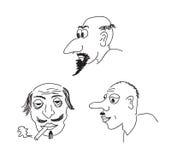 Retratos de la caricatura Foto de archivo libre de regalías