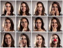 Retratos de la mujer joven Fotos de archivo
