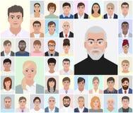 Retratos de povos diferentes, escolha, vetor Imagem de Stock