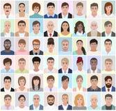 Retratos de povos diferentes, trabalho, vetor Foto de Stock Royalty Free