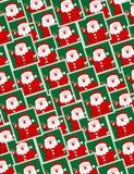 Retratos de Santa - teste padrão sem emenda Fotos de Stock Royalty Free