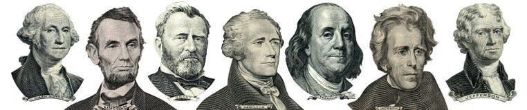 Retratos del presidente del dinero ilustración del vector