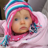 Retratos do bebê Fotos de Stock Royalty Free