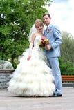 Retratos do casamento. Em todo o crescimento. Fotografia de Stock