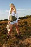 Retratos do Cowgirl Fotografia de Stock Royalty Free