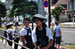 Retratos do extrator japonês do riquexó imagem de stock