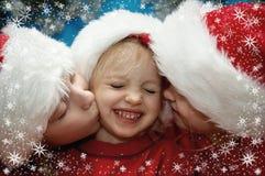 Retratos do Natal Fotografia de Stock Royalty Free