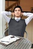 Retratos do pensamento do homem de negócios Foto de Stock