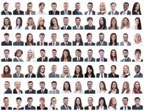 Retratos dos empregados bem sucedidos isolados em um branco imagens de stock royalty free