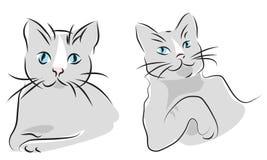 Retratos dos gatos Imagens de Stock Royalty Free