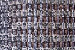 Retratos dos imigrantes aos E.U. no console de Ellis Fotografia de Stock