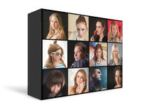Retratos dos povos fotos de stock royalty free