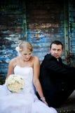Retratos exteriores Wedding fotos de stock royalty free