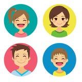 Retratos felizes da família Fotografia de Stock