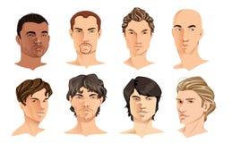 Retratos masculinos Imagens de Stock