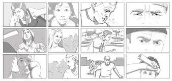Retratos para el storyboards Foto de archivo