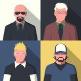 Retratos planos del avatar Foto de archivo libre de regalías