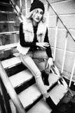 Retratos rubios jovenes atractivos de moda magníficos de la calle de la mujer Rebecca 36 Imagenes de archivo
