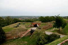 Retrenchment 4. Retrenchment and ambient on the Petrovaradin fortress, the place of exit festival in Serbia Stock Photo