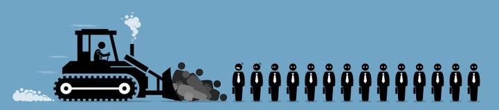 Retrenchment, företagsarbetarfriställningar och jobbsnitt vektor illustrationer