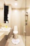 Retrete, cuarto de baño Foto de archivo