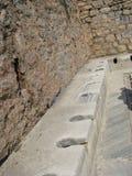 Retrete de mármol antiguo de Ephesus Fotos de archivo libres de regalías