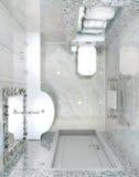 Retrete interior clásico Foto de archivo
