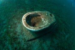 Retrete subacuático fotos de archivo