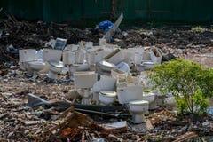 Retretes que contaminan el ambiente Fotografía de archivo libre de regalías