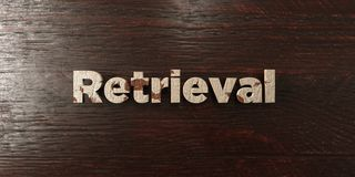 Retrieval - grungy wooden headline on Maple  - 3D rendered royalty free stock image Stock Photo
