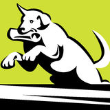 Retriever dog in training royalty free illustration