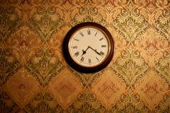 Retro ścienny zegar Zdjęcia Royalty Free
