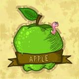 Retro Świeży Jabłczany Plakatowy projekt Zdjęcia Stock