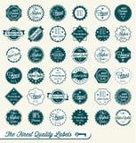 Retro Świetne Etykietki Ilość Majchery i Zdjęcie Royalty Free