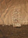 retro żeglowania statków styl royalty ilustracja