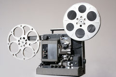 Retro 16mm Filmprojector stock afbeeldingen