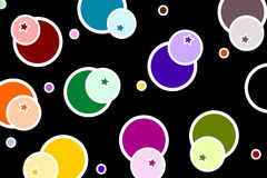 Retro. Design with colorful circles royalty free illustration
