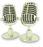 Retro 3d microfoons Stock Foto
