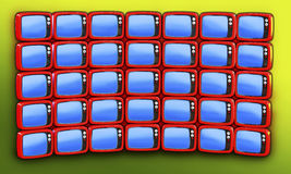 Retro 3D tv Royalty Free Stock Images