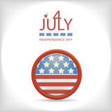 Retro 4 july  badge Royalty Free Stock Images