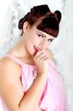 Retro 50s seksowna Dziewczyna Pinup Zdjęcie Stock