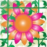 Retro 70's Flower Stock Photo