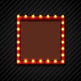 Retro aanplakbord met lampen voor ruimtetekst zwarte achtergrond vector illustratie