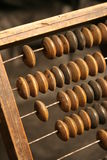 Retro abacus. Very old calculate system Stock Photos