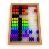 Retro abacus. 3d illustration on white. Background Stock Photography