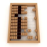 Retro abacus. 3d illustration on white Royalty Free Stock Photography