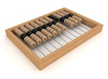 Retro abacus. 3d illustration on white background Stock Images